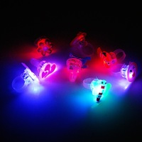 Cool Funny cheap LED Flashing Ring Glow LED Rings For Night Club