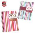 linhas de cor de impressão capa pp papelaria caderno espiral escola inglês caderno de exercício