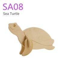 Robotime DIY mini wooden puzzle - Sea Turtle