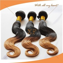 2014 most sassy grade 6A Indian fusion extension ombre color hair extensions