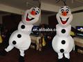 navidad muñeco de nieve de cosplay de la olaf mascota de disfraces para adultos