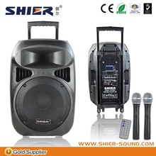 """12"""" outdoors rechargeable german audio speakers with MP3/SD function"""