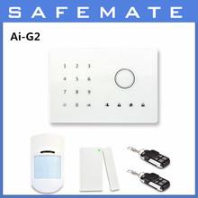 Touch keypad smart GSM+pstn dual network burglar alarm system Ai-G2