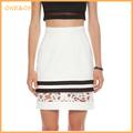 la moda de nueva mini patrón de ganchillo falda
