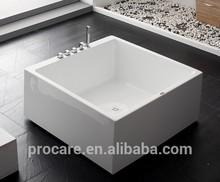 NEW design best Freestanding Modern acrylic Bathtub of square shape soaking tub