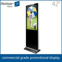 Flintstone 42 inch indoor advertising lcd tv,floor stand totem display digital signage,motion sensor advertising player