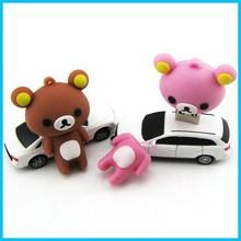 cartoon shape funny mini usb stick,bear shape super mini usb drive 1-64gb