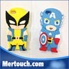 cartoon mobile phone silicone case for iphone 6 iphone 6 plus silicone cover case