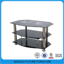 modern black glass new model tv cabinet