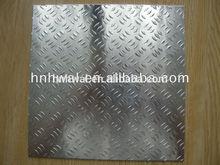 aluminium tread plate/ checkered sheet HS CODE 7606 /5/3 bar embossed aluminum checkered sheet