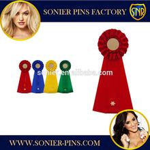 Custom colorful ribbon rosette / Award ribbon / Party ribbon