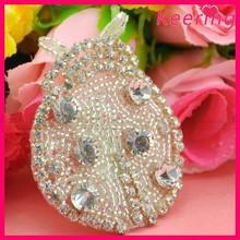Wholesale cute decorative crystal animal rhinestone appliques WRA-141