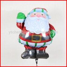 Inflatable Christmas Santa Claus printed custom shape helium foil balloons