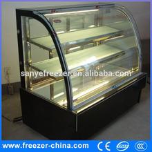 Sanye bakery supermarket multideck Arc marble acrylic cake display shelf