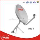 60cm KU band satellite dish single lnb antenna
