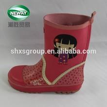 cartoon figure printed waterproof cheap rain boots