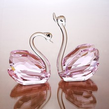 Delicate Swan crystal gifts for wedding favor