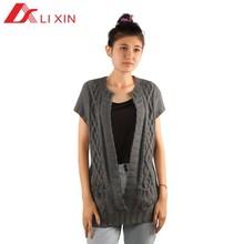 Short sleeve 100% acrylic modern knitting pattern sweater