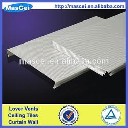 Decorative suspended perforated aluminum strip ceiling panel price