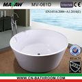 Kostenlos- stehender badewanne runde schüssel geformt