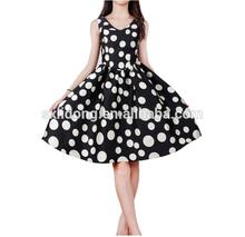 Latest style factory direct fashion charming wholesale print dress
