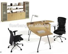 Foshan Furniture metal leg and front board melamine office desk top