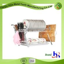 R type kitchen dish drainer / kitchen utensil metal rack