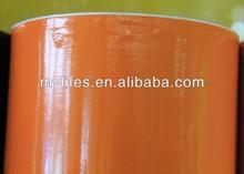 Orange Gloss Vinyl Pvc Foil Best Carbon / Size: 1.52 M X 30 M