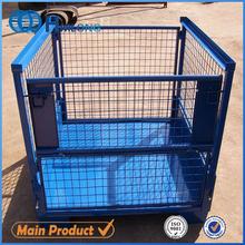 Stackable heavy duty industrial metal storage bins