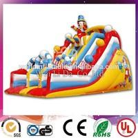 Chrismas snowman inflatable dry slide for sale