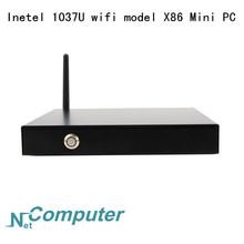 Intel 1037U 1.8G Dual-core MINI PC X86 metal case with bracket 17cm *17cm