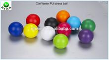 5.5cm customed PU anti stress ball/toy promotional gift PU foam stress ball/kids toy soft PU ball