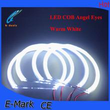 60mm 70mm 80mm 90mm 100mm 110mm 120mm 131mm 140mm LED COB Angel Eyes white yellow blue green red COB ring light