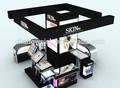blanco y negro funcional de exhibición stand de maquillaje de muebles