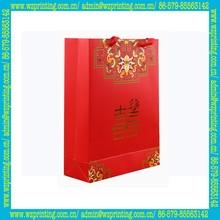 china supplier eco satin handle printing gift paper bag