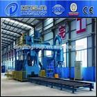 abrasive sand/steel sheet shot-blasting pre-treatment line/sand blasting manufacturer