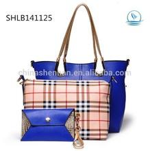 Fashion Designer Vintage Handbag sets Plaid Bags Wholesale