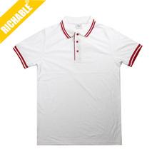 Newest Wholesales & fashion White men's shirts polo, green polo shirt with logo