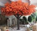 plástico reforçado com fibra de tronco de tecido artificial folhas da árvore maple para decoração ao ar livre