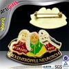 Handmade cheap badge clip safety pin custom