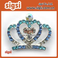 Wholesale crown shaped wedding crystal rhinestone brooch in bulk
