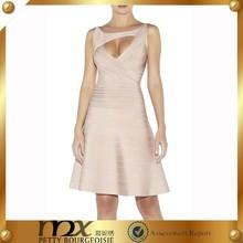 knee length beautiful mature women bandage cutout dress