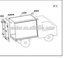 10t cooling van truck / freezer refrigerated truck aluminum box