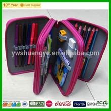 Cheap Promotion 3 Layer Pencil Case / cheap plain pencil case