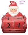 2014 ahşap yılbaşı gelişi takvim- Santa Claus takvim