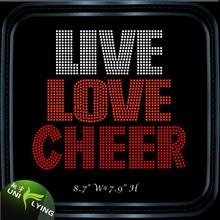 Live Love Cheer Hotfix Strass Design