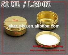 High Quality Fancy hair cream aluminium tin 50ml