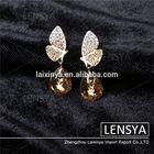 2014 new fashion crystal butterfly drop earring
