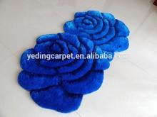 European Handmade Bath 3D Rose Velvet Carpet