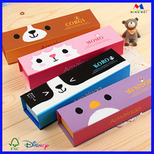 Cute design paper gift boxes /customized logo paper pencil case for children